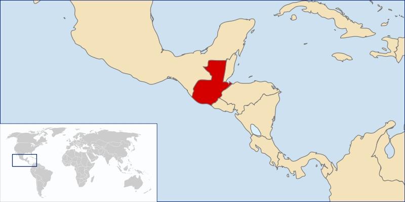 guatemala carte du monde